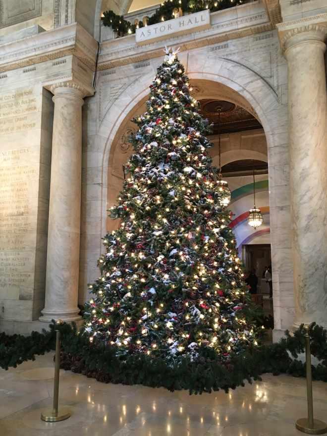 Christmas Tree New York Public Library