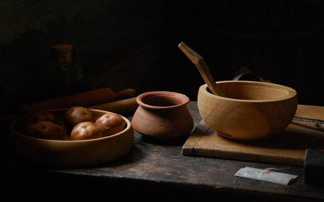 Wood Mixing Bowl