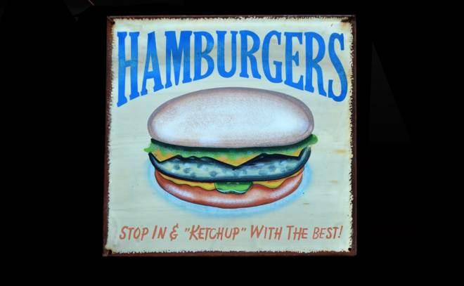 Vintage Hamburger Sign