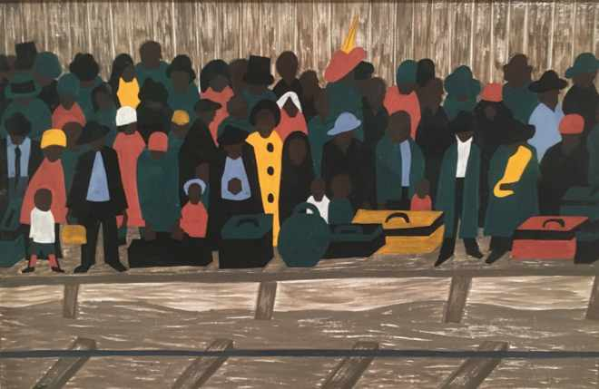 from The Migration Series by Jacob Lawrence